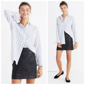 Madewell Ex-boyfriend striped button down shirt